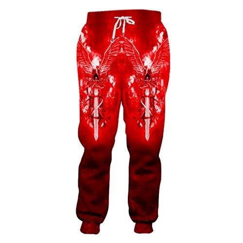 BFP-Tenos Hombre ala 3D Srmor Warrior Theme Pantalones Deportivos Tendencia Pantalones Rojos Impreso H Algunas Ropas Sueltas Unisex Wing Armor Warrior XXXL