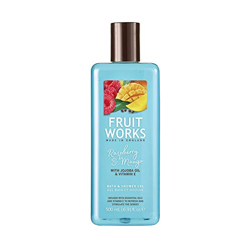 Fruit Works Raspberry & Mango Cruelty Free & Vegan Bath & Shower Gel With Natural Extracts 1x 500ml