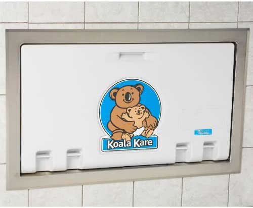 Koala Kare KB100 05ST Baby Changing Station Recess Mounted Horizontal Plastic w Stainless Steel product image