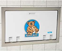 product image for Koala Kare KB100-05ST Baby Changing Station, Recess Mounted Horizontal Plastic w/Stainless Steel Flange - White Granite