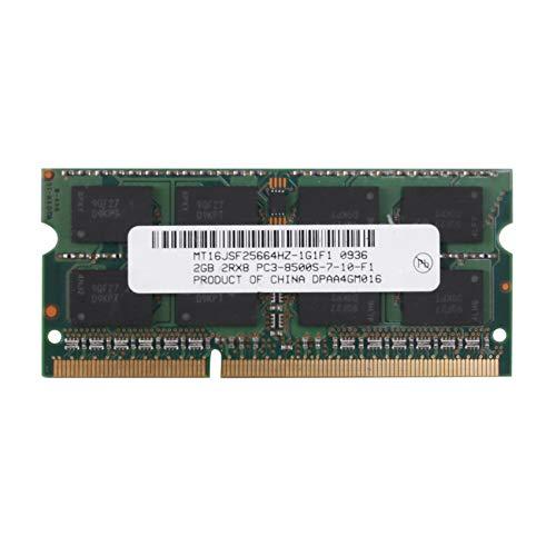 Dciustfhe MTXtec - Memoria RAM DDR3 para portátil (2 GB, 2 GB, 2RX8, PC3-8500S, 1066 MHz, 204 pines, 1,5 V)
