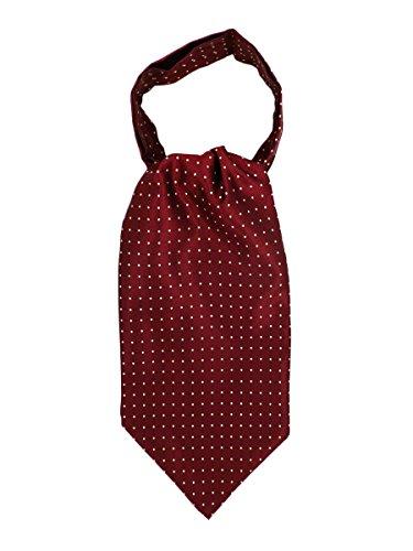 WANYING Herren Krawattenschal Ascotkrawatte Schal Cravat Ties Einfach Schick für Gentleman - Gepunktet Bordeaux