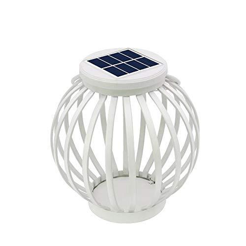 Zeerkeer Farol solar de luces creativas al aire libre para decoración de ambiente colgante linterna de jardín para patio, fiestas, pasillo impermeable LED lámpara de jardín 17,5 x 15,5 x 17,5 cm