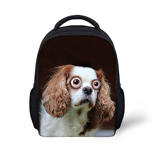 Gopumchy Kinderrucksack Kinder Rucksack Zombie Hund Rucksack Kindergartentasche Kindergartenrucksack Segeltuch Rucksack Buch Tasche für Schule,Kinder CC31 ONE Size