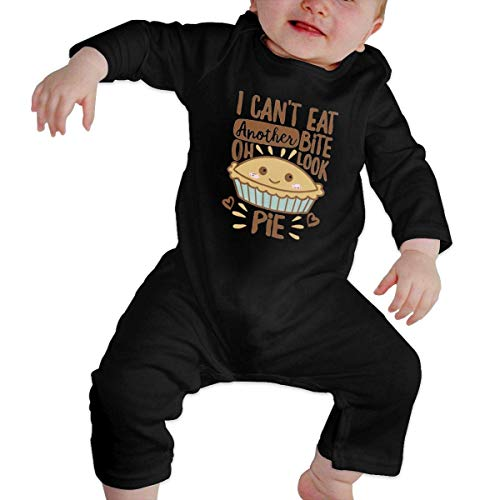 Moniery I Can't Eat Another Bite Oh Look Pie Long Sleeve Onesies Bodysuits Baby Girl