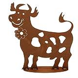 Ferrum Edelrost lustige Kuh mit Blume groß Gr.I, 8-0130