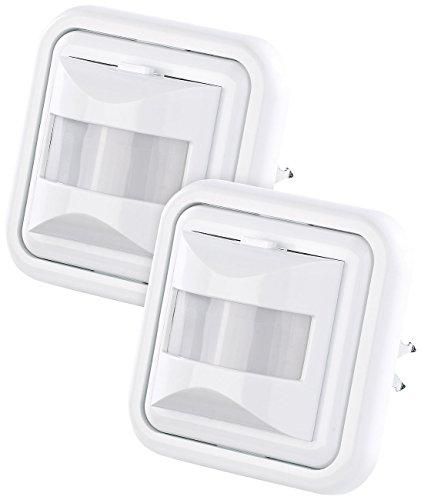revolt Bewegungssensor: 2er-Set Automatische Lichtschalter mit PIR-Bewegungsmelder (Bewegungsmelder mit Lichtsensor)