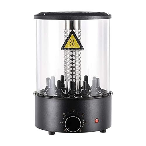 WPHGS Horno de tostador de rotisserie vertical 1100W, Máquina de kebab giratoria automática sin humo de la parrilla eléctrica inteligente de la barbacoa, encimera de acero inoxidable KABOB Grill con 0