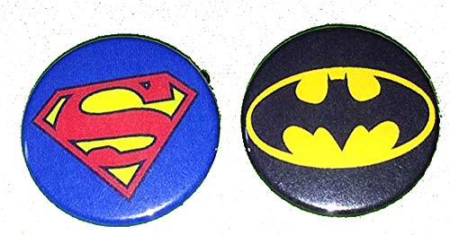 スーパーマン・バットマン 缶バッジ (スーパーマン)