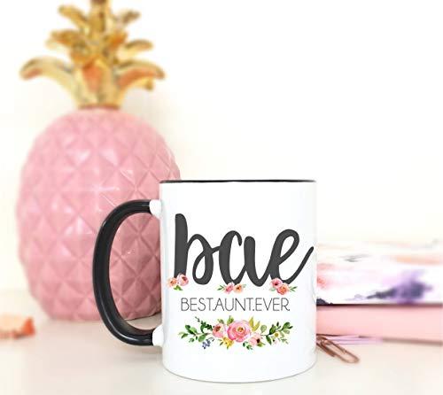 BAE, Beste tante ooit tante nieuwe baby tante mok tante koffie mok koffie mok koffie mok schattig mok zwanger aankondiging thee mok winter mok 11 oz koffie mok