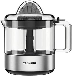 Tornado citrus juicer capacity of 30 watt, capacity of 1 liter in black silver color