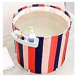 Korey Erwachsene Kunststoffverdickung Faltende Badewanne Baby/Kind-Badefass Badewanne Pool Wanne Tragbare Badewanne (Size : 65X68CM+Shelf)