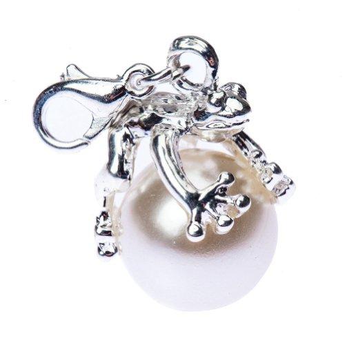 Perlas plateadas con forma de Fashion colgante de rana para pulseras collares por eliminar archivos del registro
