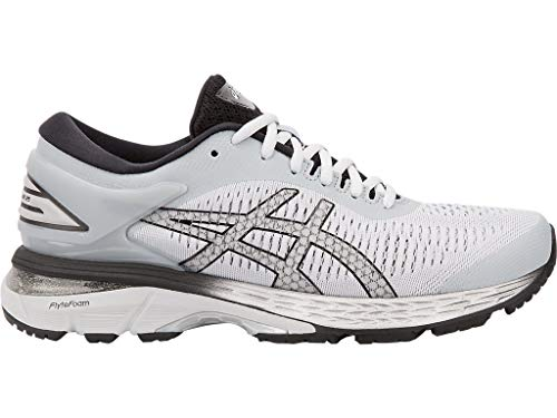 ASICS Women's Gel-Kayano 25 Running Shoes, 6M, MID Grey/Silver