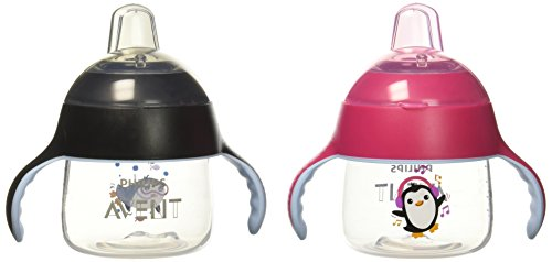 Philips AVENT 2 Piece My Little Sippy Cup, Pink/Black