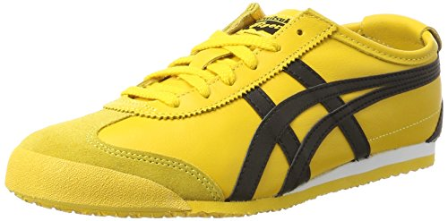 Onitsuka Tiger Mexico 66 Dl408-0490, Zapatillas Unisex Adulto, Amarillo Yellow Black 0490, 36 EU