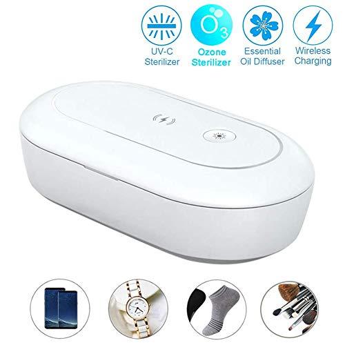 Draagbare desinfectiebox UV-licht Ozon Aromatherapie Sterilisator Telefoon-desinfector met draadloze oplader Bekijk sieradenreiniger