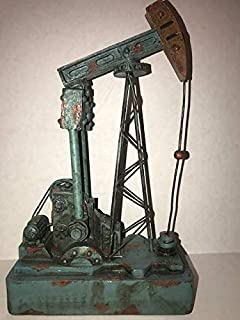 12 Inch Turquoise Oilfield Pumping Unit Pump Jack Model Oilfield Gift Roughneck Executive Oil and Gas Collectible Office Decoration Memorabilia Pumping Unit Oilfield Worker