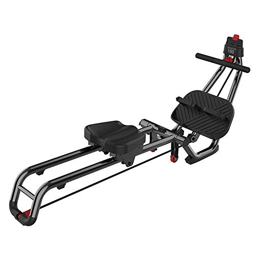 Lzcaure Rudergeräte Mini Rudergerät Smart Home Faltbare Fitnessgeräte Indoor Rowing Gerät Tragender 110KG Indoor Rower (Color : Black, Size : Free Size)