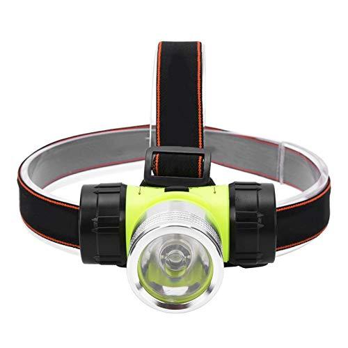 Faro impermeabile, torcia a LED ad alta potenza con faro luminoso per immersione subacquea, per ciclismo, campeggio, zaino in spalla, caccia, pesca, riparazioni domestiche