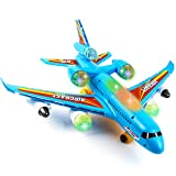 Toysery Airplane Toys for Kids - Bump and Go Action Airplane Toy for Boys and Girls with 360 Degree Rotation - Toddler Toy Plane with LED Flashing Lights and Sounds for Boys & Girls 3 -12 Years Old