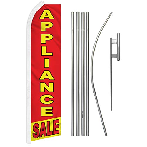 Appliance Sale Swooper Feather Advertising Flag & Pole Kit - Perfect for Home Improvement Stores, Appliance Stores