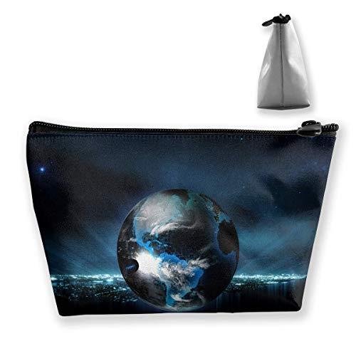 Trousse de maquillage - Géographie astronomique - Rêve de lumière - Portable - Sac cosmétique - Trapèze - Sac de rangement - Sac de voyage avec fermeture éclair