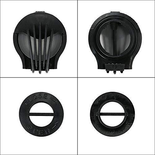 SKYSPER Staubmaske Atemmaske Fahrradmaske Verschluß Ventil Feinstaubmaske Fitnessmaske PM2.5 für Radsport Training (2pcs Filter) - 4