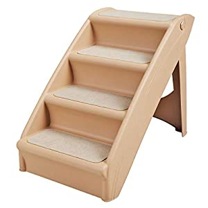 Sandinrayli Dog Steps 4 Steps for High Bed Pet Stairs Small Dogs Cats Ramp Ladder