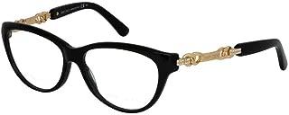 JIMMY CHOO Eyeglasses 94 0QFE Black Rose Gold 54MM