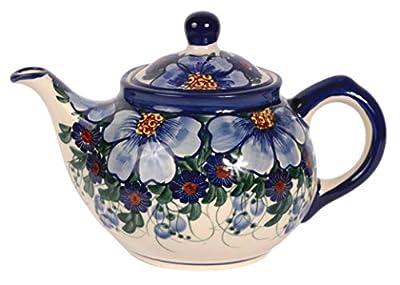 traditionnel polonais poterie, fabriqué à la main en céramique 4tasses Théière Couvercle Détachant (850ml), H.102