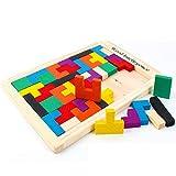 GXXASD Colorées en Bois Enfants Jeu Tetris Jouet en Bois en Bois Box Jeux Puzzle...