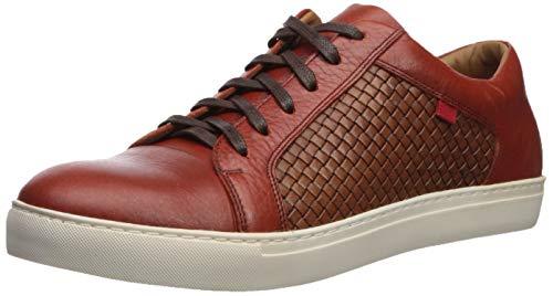 MARC JOSEPH NEW YORK Herren Mens Geuine Leather Waverly Street Criss Cross Sneaker Turnschuh, Rost-Grainy/Korb, 38.5 EU