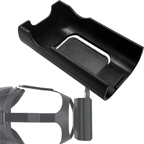 Prodrocam Batteriehalter für DJI FPV Goggles V2 Drone Combo Schutzhülle Kunststoff Akku mit Haken hinten Halterung Batteriefach Schnalle Befestigung Clip Zubehör Brille V2