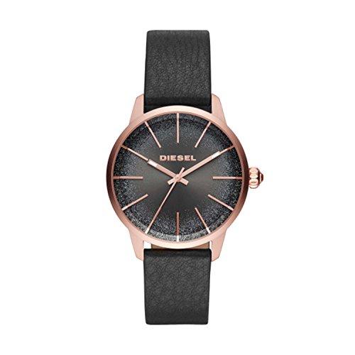 Diesel Damen Analog Quarz Uhr mit Leder Armband DZ5573
