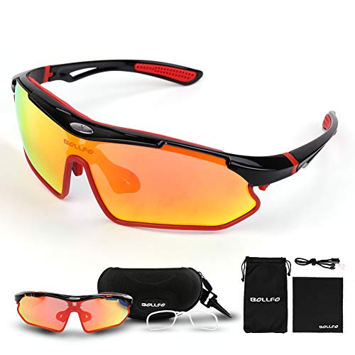 PiscatorZone Polarized Sports Sunglasses Cycling Running Fishing Golf Outdoor safety goggles TR90 Unbreakable Fram for Man Women