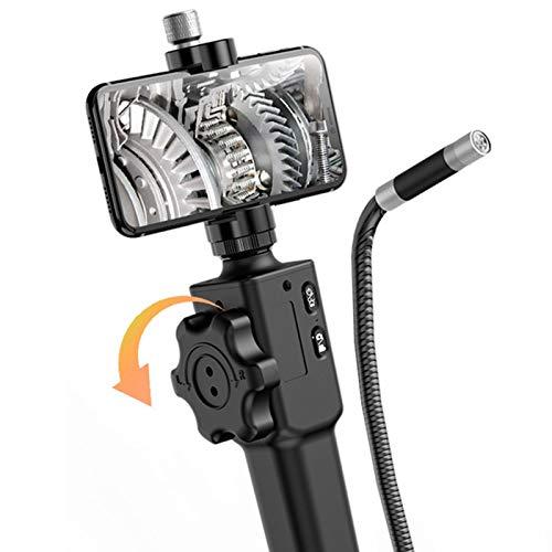 KELUNIS 5,5 MM / 8,5 MM 5,0 MP Dirección De 180 Grados Endoscopio Industrial Boroscopio Cámara De Inspección De Automóviles con Tubo En Forma De Serpiente para iPhone Android,5.5mm