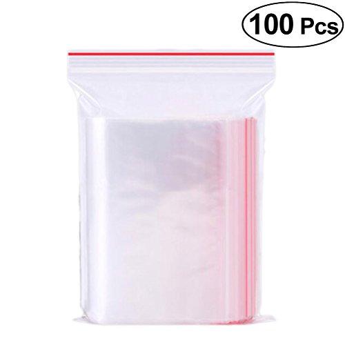 VOSAREA Druckverschlussbeutel Transparent Lebensmittelecht Wiederverschließbar 6x8cm 100 Stück