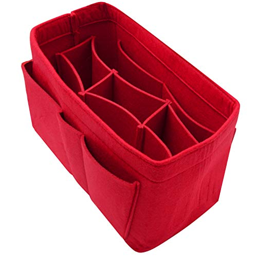Purse Organizer Insert with Lots of Different Size Spaces Purse Divider Shaper for Speedy Shoulder Hobo Bag Keep Stuff Organized