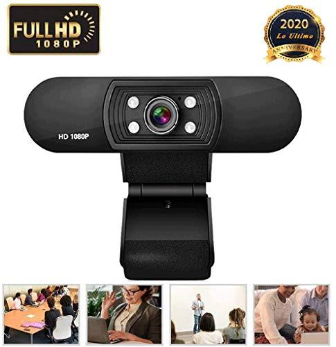 ZXSL Cámara Web de 1080p, con micrófono, para transmisión de videoconferencia de Conferencia,Cámara de Video portátil Adecuada para PC, computadora portátil, computadora de Escritorio