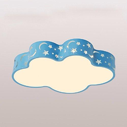 ZPSPZ Lampe de plafond Chambre Des Enfants Plafond Plafond De Dessin Animé A Feu, Feu, 58 * 40 * 10,Blue Sans Aurora