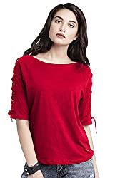Leriya Fashion Plain Western Wear Lycra T-Shirt for Women, Girls
