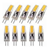 YSJJJBR Foco Empotrable LED 6pcs / Lot Regulable COB LED G4 Bombilla de la lámpara 6W AC DC 12V 220V Las Luces de Silicona de la Vela reemplazan a 40W halógeno para el Foco de candelabros