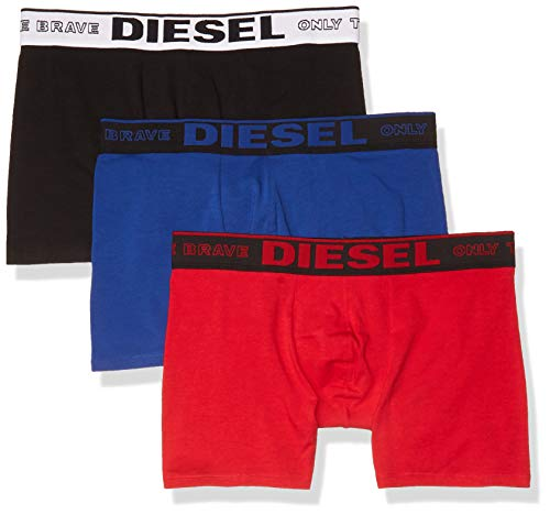 Diesel UMBX-sebastianthreepac Boxer-Shorts Corti, Nero/Rosso/Blu, M Uomo