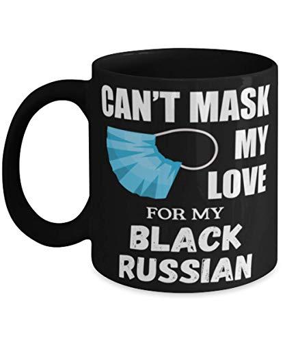 N\A Cant Mask My Love For Black Russian Terrier - Taza de café de 11 oz, Negro