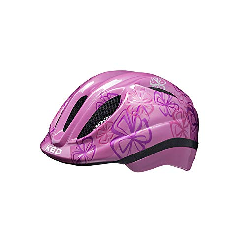 KED Meggy II Trend Helm Kinder pink Flower Kopfumfang M | 52-58cm 2021 Fahrradhelm