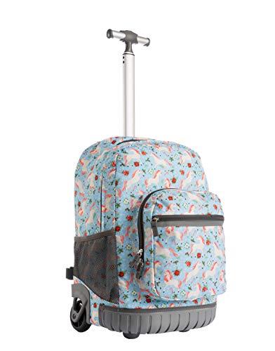 Schultrolley für Kinder,Seanshow Schultaschen Schulrucksack Trolley Rucksack mit Rollen für Kinder Junge und Mädchens Klasse 3-12