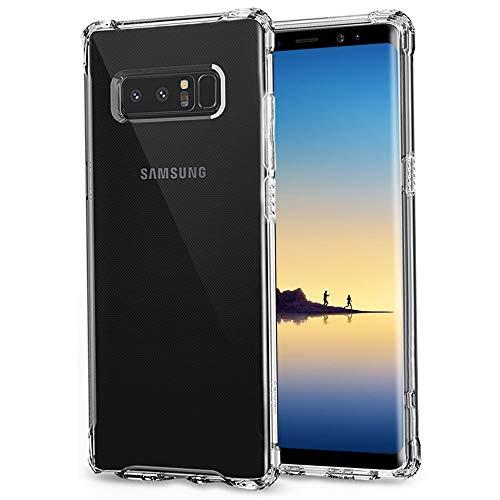"Yoedge Coque Samsung Galaxy Note 8, Etui en Silicone Transparente avec Motif Design Anti Chute Antichoc Housse de Protection Airbag Case Cover pour Samsung Galaxy Note 8-6,3"", Transparent"