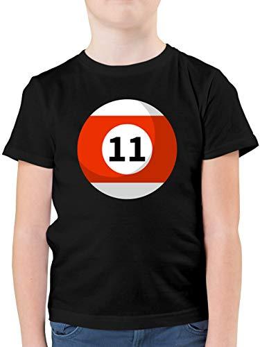 Karneval & Fasching Kinder - Billardkugel 11 Kostüm - 104 (3/4 Jahre) - Schwarz - F130K - Kinder Tshirts und T-Shirt für Jungen
