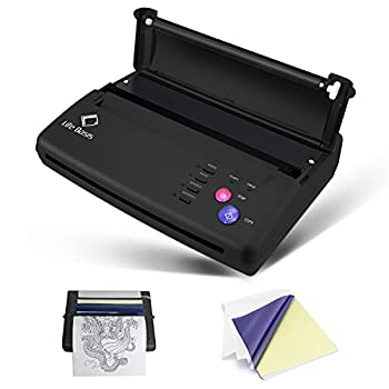 Thermal Copier Life Basis Tattoo Stencil Transfer Copier Printer Permanent Tattoos Machine with 10 Free Stencil Sheets for Temporary and Permanent Tattoos Black Update Version